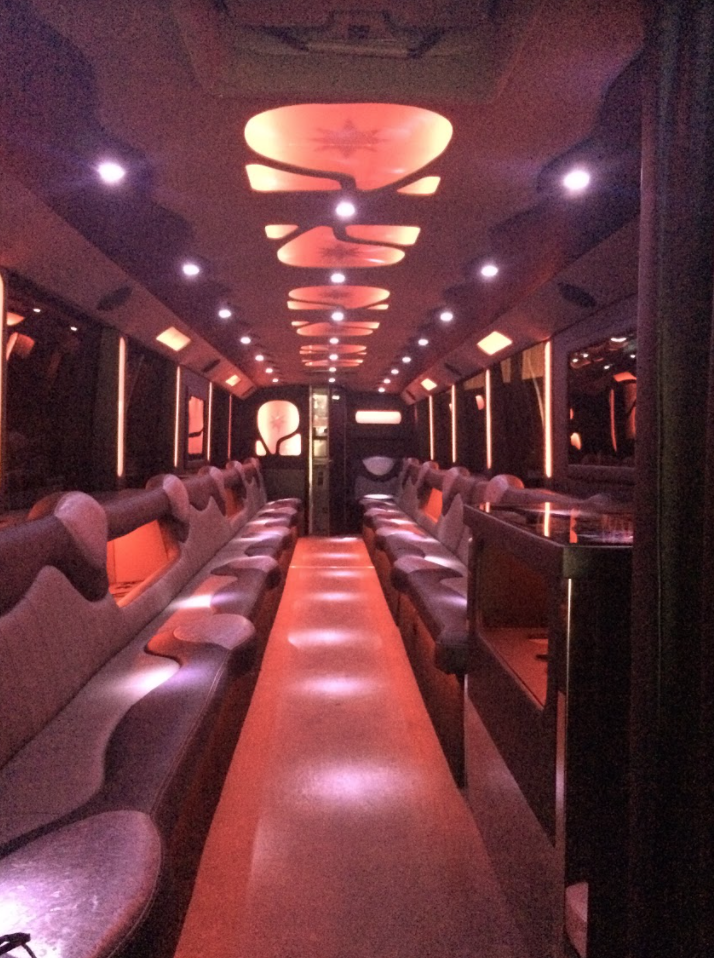 Oasis 47 Passenger Limo Bus interior
